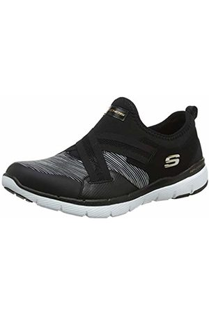 Skechers Women's Flex Appeal 3.0 Slip On Trainers, ( BKW)