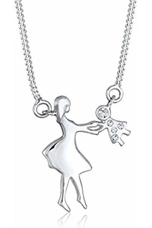 Elli Children's 925 Sterling Mother and Child Dancing Pendant with Necklace of Length 45 cm