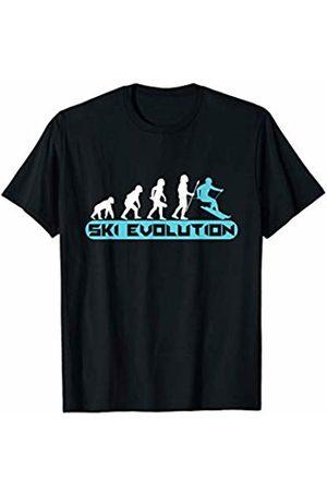 Humorous Evolution Of Skiing Skier Tees & Gifts Funny Ski Evolution Winter Sport Skiing T-Shirt