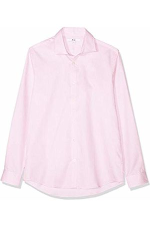 FIND FIND Men's Micro Print Cotton Oxford Slim Fit Shirt