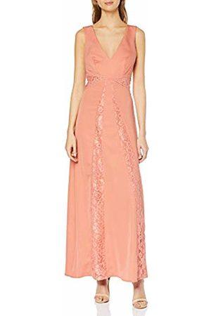 Little Mistress Miranda Orange Lace Plunge Maxi Dress 8 UK Desert Flower