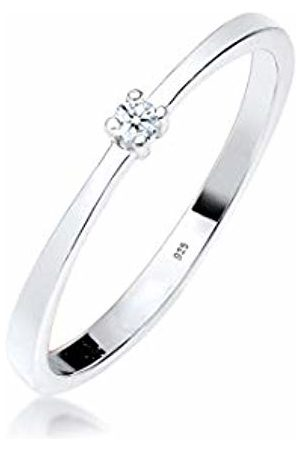 DIAMORE Women Engagement Ring 925 Sterling Diamond White 0.03ct 0605960213_58