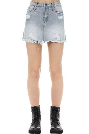 The People Vs Women Denim Skirts - Vixen Cotton Denim Skirt
