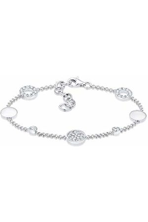 Elli Women 925 Round Crystal Tennis Bracelet - 16cm length