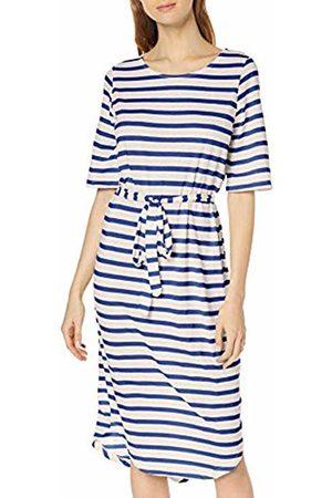 Selected Femme NOS Women's Sfivy 2/4 Beach Dress (Dazzling Stripes: Snow )