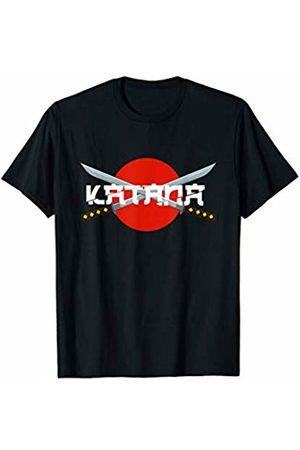 Takumi Warrior Ninja Designs Katana Blades T-Shirt Fighting Martial Arts Training Tee