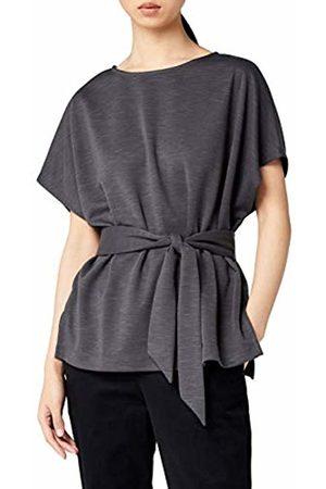 MERAKI Women's Jersey Tie Front Blouse