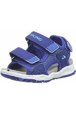 Viking Unisex Kids' Anchor II Sling Back Sandals Blau (Dark 7635)