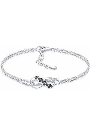 Elli Diamore Women's 925 Sterling Link Bracelet 0211271617_16 - 16cm length