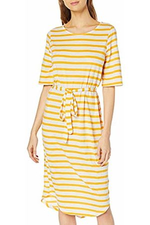 Selected Femme NOS Women's Sfivy 2/4 Beach Dress (Radiant Stripes: Snow )