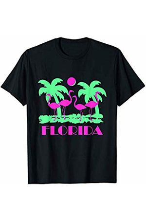 Flippin Sweet Gear Retro Florida Flamingos T-Shirt