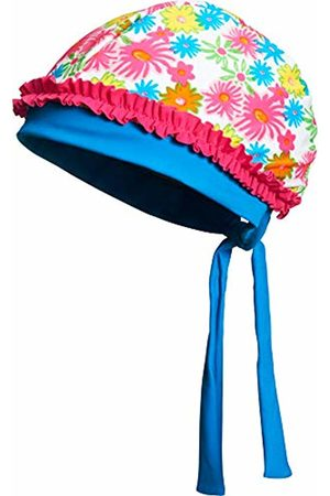 Playshoes Girl's Floral Seas with UV PRedection Hat