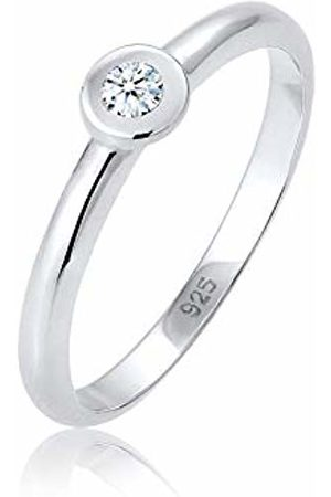 DIAMORE Women's 925 Sterling Diamond Engagement Ring