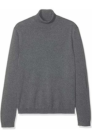 FIND Cotton Roll Neck Jumper, (Charcoal Marl)