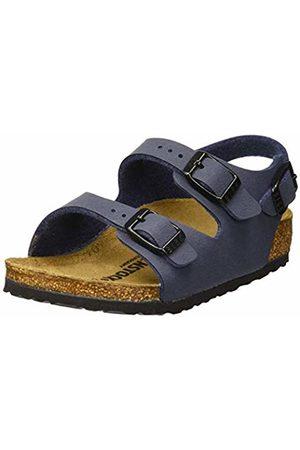 Birkenstock Boys' Roma Ankle Strap Sandals, Navy