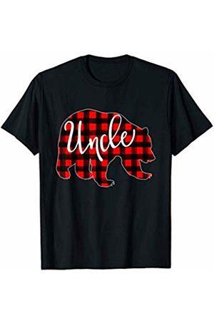 Red Plaid Matching Family Bear Buffalo Mens Red Plaid Uncle Bear Shirt Matching Pajama Family Buffalo T-Shirt