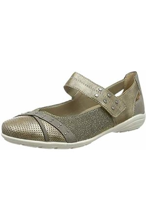 Remonte Women's D4627 Closed Toe Ballet Flats oro/staub/ - 90 8 UK