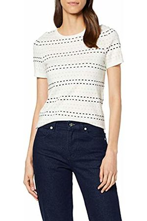 warehouse Women's Short Sleeve Stripe Spot Jumper