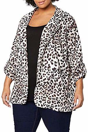 New Look Women's Leopard Scuba Suit Jacket