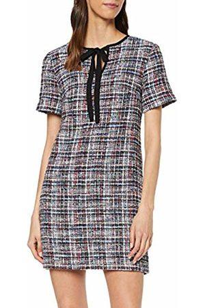 warehouse Women's Dree Tweed Tie Neck Shift Dress