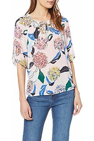 Gerry Weber Womens 160060-31591 Regular Fit Short Sleeve Blouse - Multicolour - 16