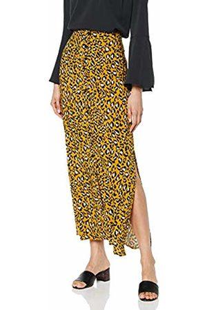 warehouse Women's Leopard Print Button Front Maxi Skirt, (Tan 84)
