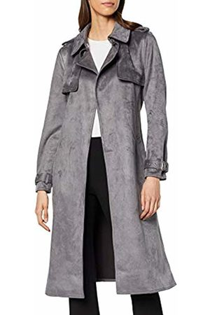 warehouse Women's Suedette Trench Coat, (Dark 72)