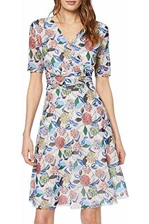 Gerry Weber Women's Kleid Gewirke Dress, Mehrfarbig (Rosa/Ozean/Sun Druck 3137)