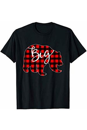 Red Plaid Matching Family Bear Buffalo Red Plaid Big Bear Matching Pajama Family Buffalo Brother T-Shirt