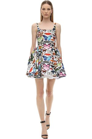 Mary Katrantzou Floral Print Jacquard Mini Dress