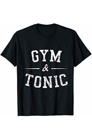 Cool Gym Fitness Shirts & Gym Fitness Gifts DISTRESSED Gym and Tonic Funny Fitness Shirt Workout Gift