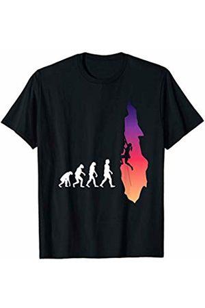 Wall Climbing Apparel Evolution of Wall climbing belaying climbers sport T-Shirt