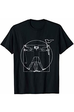 Golf Shirts & Gifts Vitruvian Man Golf T-Shirt Golfers Gift T-Shirt