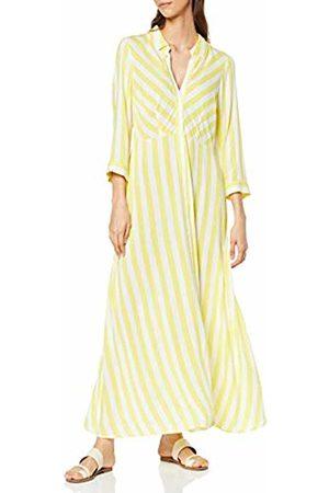 Y.A.S YAS Women's YASSAVANNA Long Shirt Summer Dress Gelb Cream