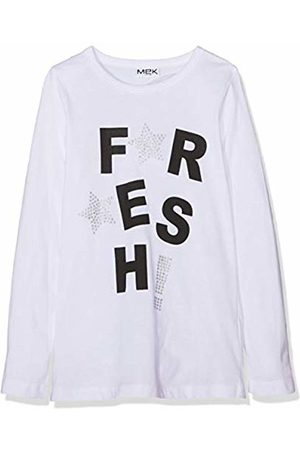 MEK Girl's T-Shirt Jersey M/l. Con Stampa Kniited Tank Top, (Optical 01 001)