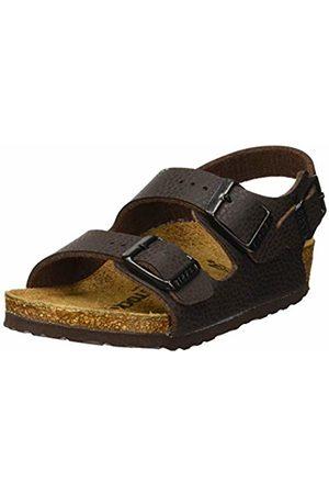 Birkenstock Boys' Milano Sling Back Sandals Desert Soil Espresso