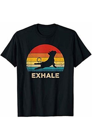 Funny French Bulldog Tees Funny French Bulldog Yoga Exhale Vintage Style T-Shirt