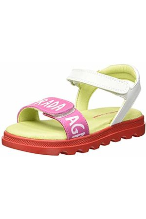 Agatha Ruiz de la Prada Girls' 192945 Open Toe Sandals (Blanco Y Chicle (Mat Y Sauvage) B) 10 UK