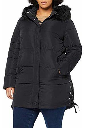 Ulla Popken Women Jackets - Women's Plus Size Faux Fur Trim Quilted Jacket 24/26 719091 10-50+