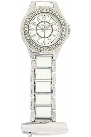 Henley Ladies Diamante Fashion Quartz Fob Watch with Dial Analogue Display and Stainless Steel Plated Bracelet HF06.1