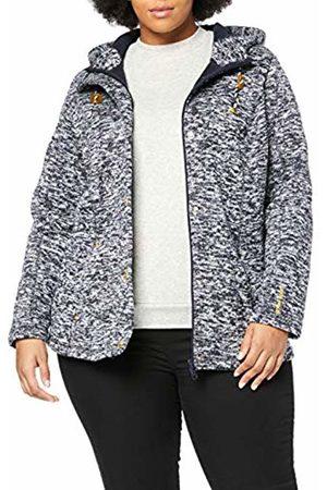 Ulla Popken Women's Plus Size Hooded Melange Sweater Fleece Jacket Night Melange 36/38 717857 69-62+