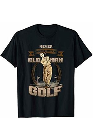Awesome Grandfather Father Golf Tees & Gifts Never Underestimate Old Man Grandpa Golf T-Shirt