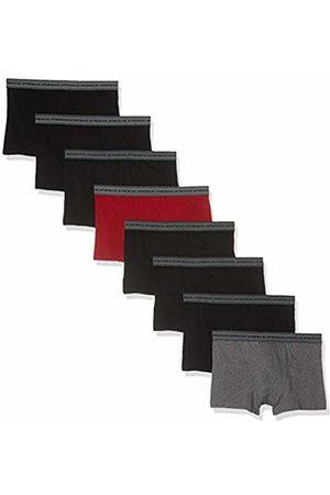 ATHENA Men's Promo Basic Coton Boxer Shorts, Gris Chiné/Rouge/Noir 9060