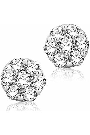 Miore Earrings Women studs Gold 9 Kt / 375 Diamonds 0.20 ct