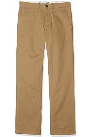 Eddie Bauer Men's Legend Wash Chinohose mit Flanellfutter-Straight Leg-Baumwolle Trousers