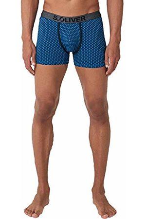 s.Oliver Men's 26.899.97.4275 Boxer Shorts, Blau (Medium Dark 18d3)