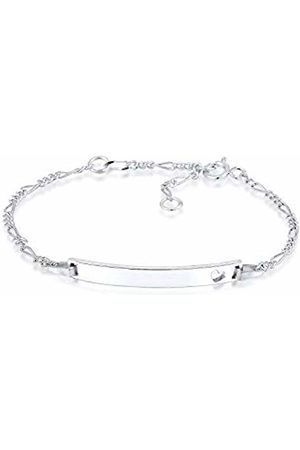 Elli Children's 925 Sterling Silver Plated Kids Girls Boys Heart Bracelet of Length 14 cm