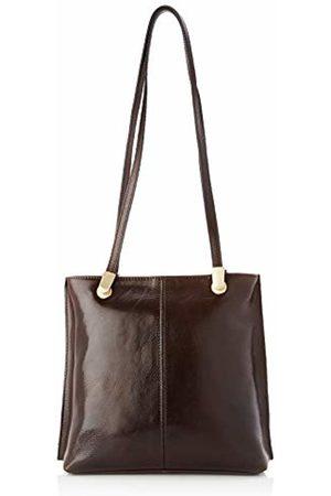Chicca Tuttoa Women's CBC181355GF22 Top-Handle Bag Brown Marrone (Testa Di Moro)