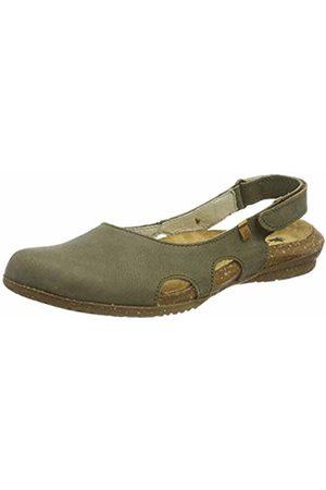El Naturalista Women's N413 Pleasant Kaki/Wakataua Closed Toe Sandals