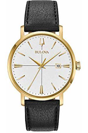 BULOVA Mens Analogue Classic Quartz Watch with Leather Strap 97B172